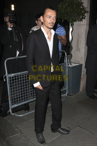 MATTHEW WILLIAMSON.The Vogue Dinner Party at La Caprice Restaurant, London, England..September 21st, 2009.full length black white suit jacket shirt goatee facial hair .CAP/AH.©Adam Houghton/Capital Pictures.