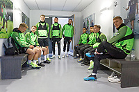 (L-R) Jake Bidwell, Tom Carroll, George Byers, Matt Grimes and Kristoffer Peterson, Yan Dhanda, Kyle Naughton, Barrie McKay and Jay Fulton of Swansea City during the Swansea City Training Session at The Fairwood Training Ground in Swansea, Wales, UK. Wednesday 16 October 2019