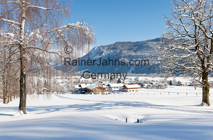 Deutschland, Oberbayern, Chiemgau, Schleching im Winter   Germany, Upper Bavaria, Chiemgau, Schleching at wintertime