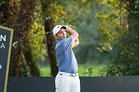 Francesco Molinari (ITA) in action on the 18th hole during the second round of the 76 Open D'Italia, Olgiata Golf Club, Rome, Rome, Italy. 11/10/19.<br /> Picture Stefano Di Maria / Golffile.ie<br /> <br /> All photo usage must carry mandatory copyright credit (© Golffile | Stefano Di Maria)