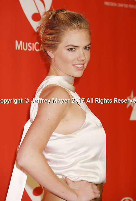 LOS ANGELES, CA - FEBRUARY 10: Model-actress Kate Upton attends MusiCares Person of the Year honoring Tom Petty at the Los Angeles Convention Center on February 10, 2017 in Los Angeles, California.