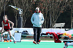 DURHAM, NC - NOVEMBER 11: Miami head coach Inako Puzo. The Duke University Blue Devils hosted the Miami University (Ohio) Redhawks on November 11, 2017 at Jack Katz Stadium in Durham, NC in an NCAA Division I Field Hockey Tournament First Round game. Duke won the game 4-2.