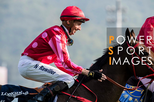 Jockey Nash Rawiller riding Mr Stunning #1 wins in the Longines Hong Kong Sprint (G1, 1200m) during the Longines Hong Kong International Races at Sha Tin Racecourse on December 10 2017, in Hong Kong, Hong Kong. Photo by Victor Fraile / Power Sport Images