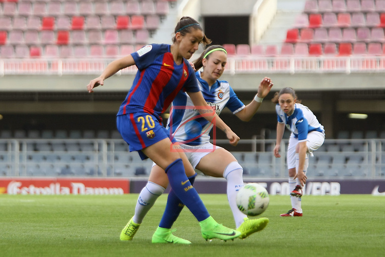 Spanish Women's Football League Iberdrola 2016/17 - Game: 21.<br /> FC Barcelona vs RCD Espanyol: 5-0.<br /> Olga Garcia vs Carola Garcia.