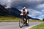 Paul Daumont (BUR) in action during the Men's Under-23 Individual Time Trial of the 2018 UCI Road World Championships running 20km around Innsbruck, Innsbruck-Tirol, Austria 2018. 24th September 2018.<br /> Picture: Innsbruck-Tirol 2018/Dario Belingheri | Cyclefile<br /> <br /> <br /> All photos usage must carry mandatory copyright credit (&copy; Cyclefile | Innsbruck-Tirol 2018/Dario Belingheri)