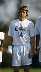 Duke's Joe Germanese on Sunday, November 19th, 2006 at Koskinen Stadium in Durham, North Carolina. The Duke Blue Devils defeated the Lehigh University Mountain Hawks 3-0 in an NCAA Division I Men's Soccer Championship third round game.
