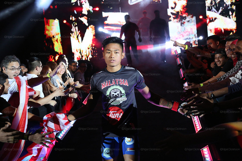 Gianni Subba, Malaysian MMA Hero, enters the stadium<br />
