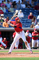 Philadelphia Phillies outfielder Aaron Altherr (40) during an exhibition game against the University of Tampa on March 1, 2015 at Bright House Field in Clearwater, Florida.  University of Tampa defeated Philadelphia 6-2.  (Mike Janes/Four Seam Images)