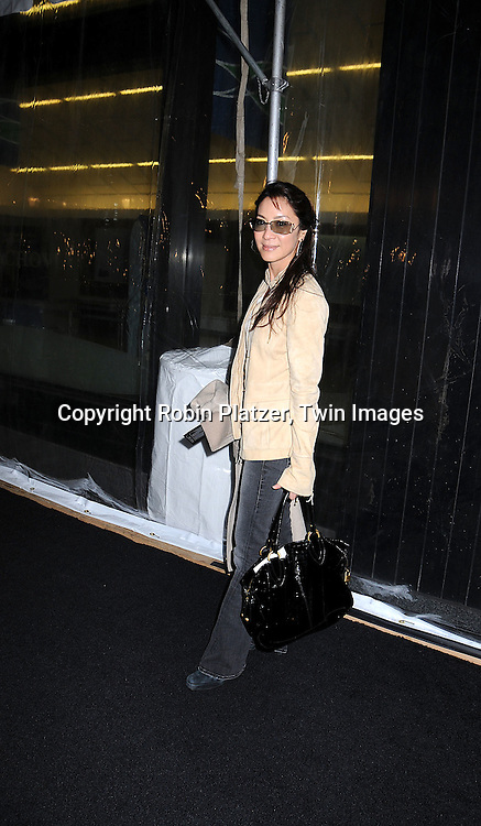 """actress Michelle Yeoh.posing for photographers at The """"Shine A Light"""" movie premiere on March 30, 2008 atThe Ziegfeld Theatre. .Martin Scorsese directed the movie and The Rolling Stones are the stars of the documentary. .Robin Platzer, Twin Images"""