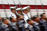 Spainsh soldiers of the Air Forces and the Marine Corp (t) during a military parade marking the Armed Forces Day on June 2, 2012 in Valladolid.(ALTERPHOTOS/Acero)