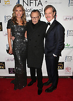 LOS ANGELES, CA - DECEMBER 5: Shawn King, Larry King and William H. Macy at The National Film and Television Awards at The Globe Theater in Los Angeles, California on December 5, 2018. Credit: Faye Sadou/MediaPunch