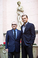 """Leonardo Di Caprio e Martin Scorsese  durante la presentazione a Roma del film """"Shutter Island""""."""