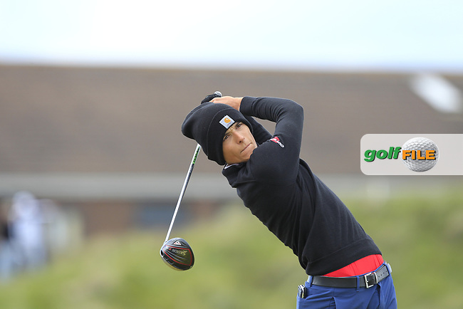 Alejandro Pedryc (POL) on the 5th tee during Round 1 of the The Amateur Championship 2019 at The Island Golf Club, Co. Dublin on Monday 17th June 2019.<br /> Picture:  Thos Caffrey / Golffile<br /> <br /> All photo usage must carry mandatory copyright credit (© Golffile | Thos Caffrey)