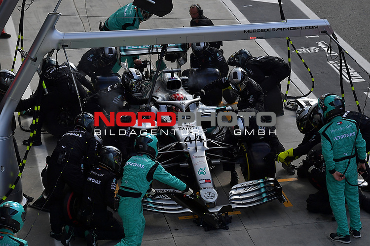 08.09.2019, Autodromo Nazionale di Monza, Monza, FORMULA 1 GRAN PREMIO HEINEKEN D'ITALIA 2019<br />,im Bild<br />Boxenstop von Lewis Hamilton (GB#44), Mercedes-AMG Petronas Motorsport<br /> <br /> Foto © nordphoto / Bratic