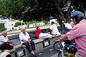 Locals gather at Speaker's Square in Esplanade in the UNESCO heritage city of Georgetown in Penang, Malaysia. Photo: Sanjit Das/Panos