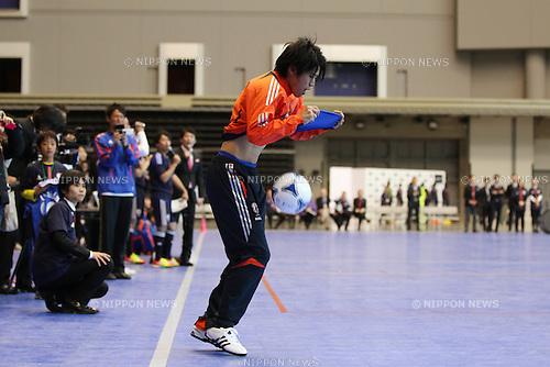 Atsuto Uchida (JPN), DECEMBER 26, 2011 - Football / Soccer : Japan National Team Official Uniform Announcement Press conference at Saitama Super Arena, Saitama, Japan. (Photo by YUTAKA/AFLO SPORT) [1040]