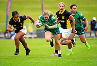 Women's pool match between Manawatu and Wellington on day one of the 2018 Bayleys National Sevens at Rotorua International Stadium in Rotorua, New Zealand on Saturday, 13 January 2018. Photo: Dave Lintott / lintottphoto.co.nz