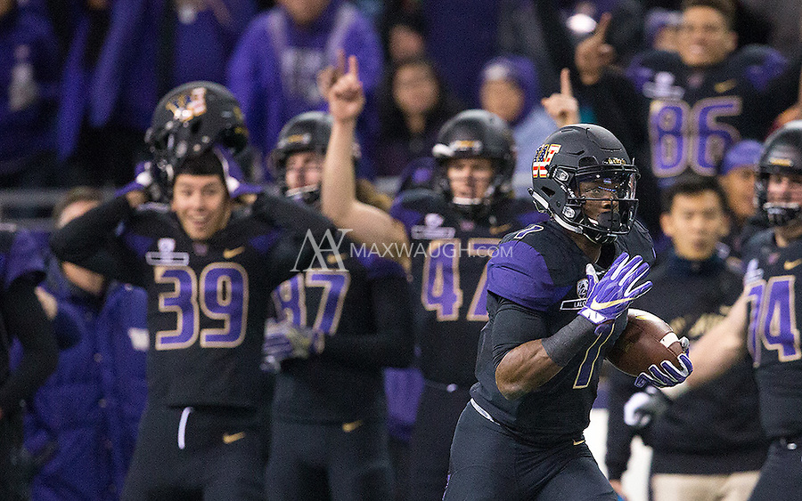 As John Ross heads to the end zone, number 39 Sean Vergara gets just a little bit excited.