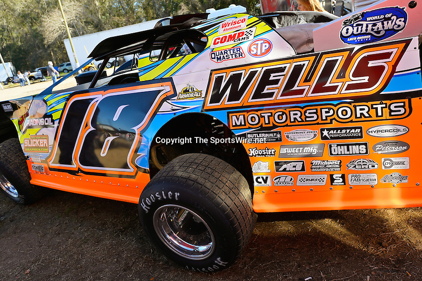 Feb 16, 2014; 3:24:22 PM; Ocala, FL., USA; The Third Annual Bubba Army Winter Nationals World Of Outlaws Super Late Models paying $12,000 to win at Bubba RaceWay Park.  Mandatory Credit: (thesportswire.net)
