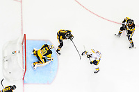 May 29, 2017: Nashville Predators center Frederick Gaudreau (32) scores on Pittsburgh Penguins goalie Matt Murray (30) during game one of the National Hockey League Stanley Cup Finals between the Nashville Predators  and the Pittsburgh Penguins, held at PPG Paints Arena, in Pittsburgh, PA. Pittsburgh defeats Nashville 5-3 in regulation time.  Eric Canha/CSM