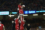 Wales number 8 Taulupe Faletau takes the early line out ball.<br /> Dove men Series 2014<br /> Wales v New Zealand<br /> 22.11.14<br /> &copy;Steve Pope -SPORTINGWALES