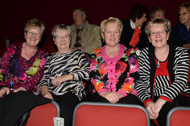 Cepta Campbell, Mairead O'Neill, Eileen Bird and May Kelly pictured at the Showband show in the TLT. Photo:Colin Bell/pressphotos.ie