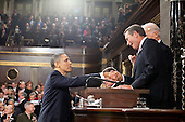 United States President Barack Obama shakes hands with Speaker of the U.S. House John Boehner (Republican of Ohio) before delivering the State of the Union address at the U.S. Capitol in Washington, D.C., Tuesday, January 25, 2011. .Mandatory Credit: Pete Souza - White House via CNP