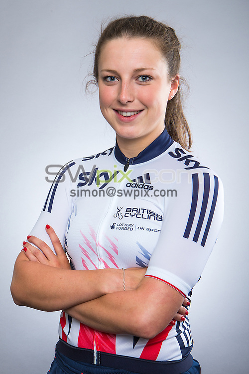Picture by Alex Whitehead/SWpix.com - 14/08/2015 - Track Cycling - Great Britain Cycling Team Portraits - Derby Arena, Derby, England - Great Britain's Manon Lloyd