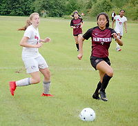 Graham Thomas/Herald-Leader<br /> Siloam Springs senior Laura Morales was named to the Northwest Arkansas Democrat-Gazette's All-Area Girls Soccer Team for the 2019 season. Morales finished the season with 17 goals and eight assists for the Lady Panthers (14-8). For her career at Siloam Springs, Morales had 55 goals and 30 assists.