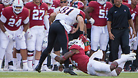 STANFORD, CA - August 31, 2018: Alameen Murphy at Stanford Stadium. The Stanford Cardinal defeated the San Diego State Aztecs 31-10 in the season opener.