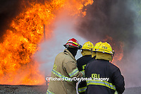 63818-02608 Firefighters at oilfield tank training, Marion Co., IL