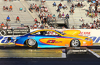 May 31, 2013; Englishtown, NJ, USA: NHRA pro stock driver Kenny Delco during qualifying for the Summer Nationals at Raceway Park. Mandatory Credit: Mark J. Rebilas-