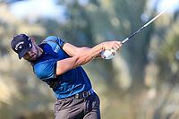 Haydn Porteous (RSA) on the 14th tee during the 2nd round of the Abu Dhabi HSBC Championship, Abu Dhabi Golf Club, Abu Dhabi,  United Arab Emirates. 17/01/2020<br /> Picture: Fran Caffrey   Golffile<br /> <br /> <br /> All photo usage must carry mandatory copyright credit (© Golffile   Fran Caffrey)