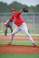 GCL Cardinals relief pitcher Jim Voyles (31) delivers a pitch during a game against the GCL Mets on July 23, 2017 at Roger Dean Stadium Complex in Jupiter, Florida.  GCL Cardinals defeated the GCL Mets 5-3.  (Mike Janes/Four Seam Images)