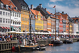 DENMARK, Copenhagen, Boats in the Nyhavn district, Europe