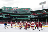 - The Boston College Eagles practiced on the rink at Fenway Park on Friday, January 6, 2017.