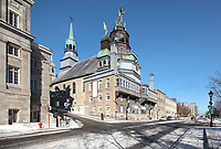 Notre-Dame-de-Bon-Secours Chapel, a pilgrimage church originally founded by St Marguerite Bourgeoys in 1655 and rebuilt in 1771, nicknamed the Chapelle des Marins, on the Rue Saint-Paul in the Old Town of Montreal, Quebec, Canada. Picture by Manuel Cohen