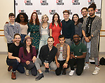 """The cast featuring Noah Galvin, Nkeki Obi-Melekwe, Natalie Walker, Molly Gordon, Colton Ryan, Mia DiLena, Andrew Kober, Heath Saunders, Zachary Downer, Zachary Infante, Wesley Taylor, Catharine Ricafort, and Kyle Sherman attend the Photo Call for the MCC Theater's World Premiere production of """"Alice by Heart"""" at the New 42nd Street Studios on December 17, 2018 in New York City."""
