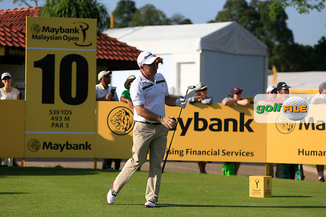 Paul McGinley (IRL) on the 10th during Round 3 of the Maybank Malaysian Open at the Kuala Lumpur Golf &amp; Country Club on Saturday 7th February 2015.<br /> Picture:  Thos Caffrey / www.golffile.ie