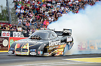 Sept. 30, 2012; Madison, IL, USA: NHRA funny car driver Matt Hagan during the Midwest Nationals at Gateway Motorsports Park. Mandatory Credit: Mark J. Rebilas-