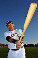Feb 28, 2010; Bradenton, FL, USA; Pittsburgh Pirates  catcher Hector Gimenez (81) during  photoday at Pirate City. Mandatory Credit: Tomasso De Rosa/ Four Seam Images