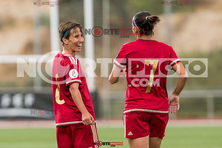 Spain's Sonia Bermudez and Marta Corredera during the match of  European Women's Championship 2017 at Las Rozas, between Spain and Montenegro. September 15, 2016. (ALTERPHOTOS/Rodrigo Jimenez) /NORTEPHOTO