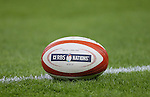 Match ball ready at the side of the pitch - RBS 6Nations 2015 - Wales  vs England - Millennium Stadium - Cardiff - Wales - 6th February 2015 - Picture Simon Bellis/Sportimage