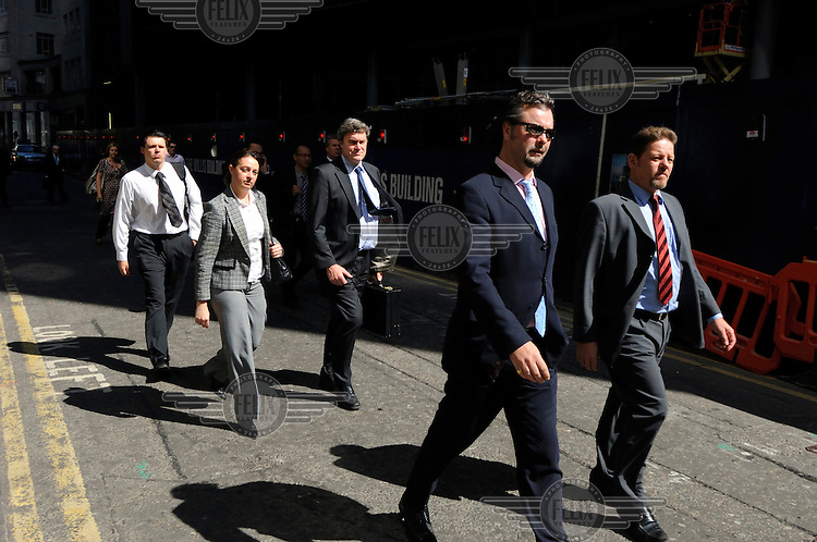 Businesspeople in the City of London.