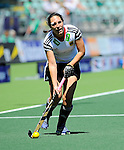 The Hague, Netherlands, June 13: Maike Stoeckel #24 of Germany looks to pass during the field hockey placement match (Women - Place 7th/8th) between Korea and Germany on June 13, 2014 during the World Cup 2014 at Kyocera Stadium in The Hague, Netherlands. Final score 4-2 (2-0)  (Photo by Dirk Markgraf / www.265-images.com) *** Local caption ***