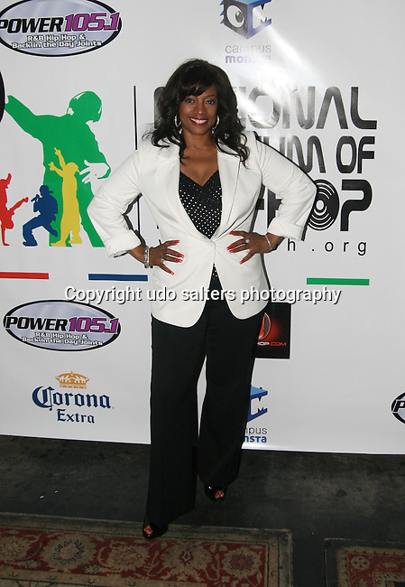 Bernadette Stanis attends the National Museum of Hip Hop VIP Launch Event: Hip-Hop Immortal Hosted by Chuck D and KRS One at M2 Ultra Lounge, New York 4/6/10