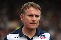 Bolton Wanderers manager Phil Parkinson<br /> <br /> Photographer Rachel Holborn/CameraSport<br /> <br /> The EFL Sky Bet Championship - Barnsley v Bolton Wanderers - Saturday 14th April 2018 - Oakwell - Barnsley<br /> <br /> World Copyright &copy; 2018 CameraSport. All rights reserved. 43 Linden Ave. Countesthorpe. Leicester. England. LE8 5PG - Tel: +44 (0) 116 277 4147 - admin@camerasport.com - www.camerasport.com