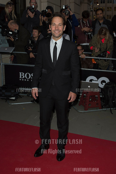 Paul Rudd at the 2015 GQ Men of the Year Awards at the Royal Opera House, Covent Garden, London.<br /> September 8, 2015  London, UK<br /> Picture: Dave Norton / Featureflash