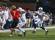 College Park, MD - November 25, 2017: Penn State Nittany Lions tight end Mike Gesicki (88) runs after catching a pass during game between Penn St and Maryland at  Capital One Field at Maryland Stadium in College Park, MD.  (Photo by Elliott Brown/Media Images International)