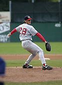 August 8, 2004:  Pitcher Tommy Hottovy of the Lowell Spinners, Single-A NY-Penn League affiliate of the Boston Red Sox, during a game at Dwyer Stadium in Batavia, NY.  Photo by:  Mike Janes/Four Seam Images